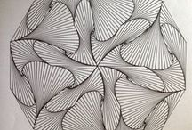 Fadengrafik geometrische Muster