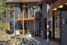 Ideas de fachadas / Metal y madera