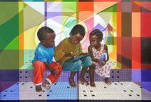 Art contemporain africain / catalogue d'images d'artistes africains contemporains, peintures, dessins, photographies, issues du site www.repro-tableaux.com