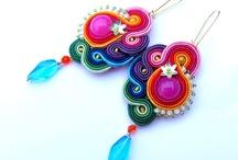 Sutaška - soutache / Sutaška - náušnice, náhrdelníky