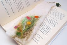 Felting bookmarks / Bookmark your favorite quotes with a natural wool felted bookmark.