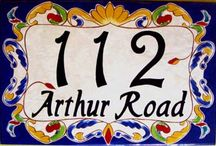 Ceramic House Numbers Plaques / House number plaques from ceramichousenumber.com