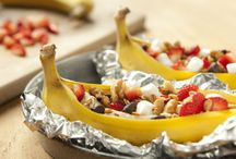 Grilled fruits and veggies