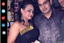 Nisha Rajput and Puneet Handa, Nitin Chawlas event,