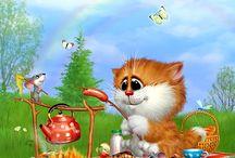 Коты Андрея Долотова