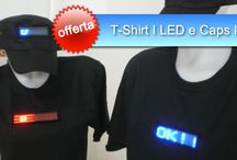 T-shirt I led / T-shirt con display luminoso a lettere in movimento