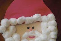 Kids making christmas decorations