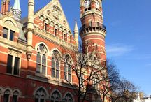 JEFFERSON MARKET COURTHOUSE / The Jefferson Market Library building in Greenwich Village was once used as a courthouse.  Strikers from the Triangle Shirtwaist Factory were arraigned there.  On the plot of land behind the courthouse stood a jail, where there's a garden now.