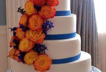 Orange & blue colour board
