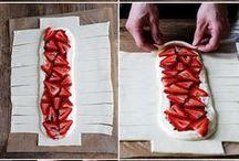 Danish bread- with šlahačka and strawberries and jam
