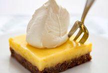 Gebak en cake met citroen