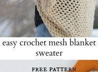 Crochet Fashion / Slow fashion is trending right now, and here you'll find some handmade pieces you can add to your own wardrobe.