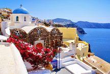 Arquitetura e Beleza em Santorini na Grécia! / Veja + Inspirações e Dicas de decoração no blog!  www.construindominhacasaclean.com