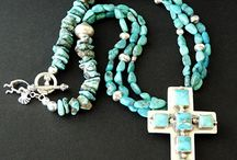 Genuine Fox Turquoise Handmade Artisan Jewelry / One-of-a-kind Artisan Jewelry Designs handmade from Genuine Fox Turquoise creating bead necklaces, nugget bracelets and turquoise bead earrings, focal turquoise pendants and stone cabochon pendant designs.