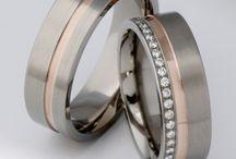 Karikagyűrűink / wedding rings  Titanium & Gold