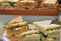 Tea Party Sandwiches / Dainty Tea Sandwiches are a Classic Savory of Tea Parties. They can be simply made, yet elegantly displayed.