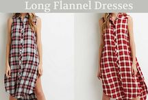 Long Flannel Dress can up the Oomph Factor for the Divas