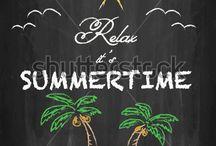 Summertime Chalk Boards