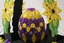 jajka i palmy wielkanocne / Wielkanoc