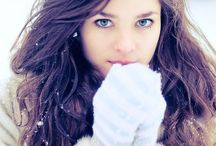 Winter portrait shooting