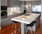 Designer Kitchens Sydney / Modular Kitchen design makes cleanliness simple and timesaving. It makes maintenance-free kitchen a reality. It has now become a ubiquitous feature. They comprise of standardized pre-fabricated units for walls and floors. The units include kitchen utensils and deep to house electrical appliances of varied sizes and shapes