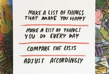 To Do List / Live life well