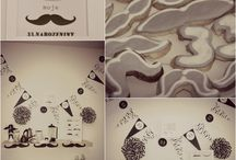 Moustache party / Moustache and coffee party for my husband