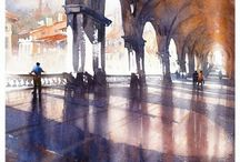 Architectural Renderings / Architectural and interior illustrations/watercolors / by A f t o n