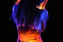 body paint art blacklight
