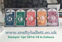 Stampin Up 2016/17 Annual Catalogue / Place for 2016/17 Annual Catalogue stamp sets, new 2016-18 Stampin Up In Colours and Colour charts  / by Crafty Hallett Stampin Up' UK Demonstrator