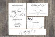 DIY Printable Digital Downloads - Wedding Invitations