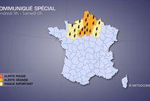 Alertes Meteo, intemperies en Seine-et-Marne