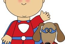 Superhero Kids Clip Art / by MyCuteGraphics