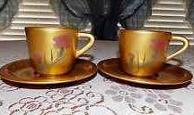 Lacquered tea set