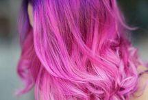 Violetit hiukset