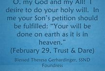 """February Quotes - Blessed Theresa / Quotes from Blessed Theresa Gerhardinger, foundress of the School Sisters of Notre Dame, for each day from """"Trust & Dare."""""""