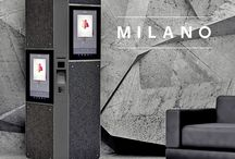 Milano Fabric covered information and ticketing kiosk