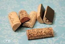 new Crafts to try / cork magnets / by Tina Ebert