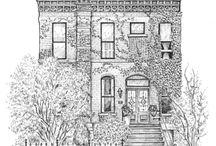 ilustraciones casas
