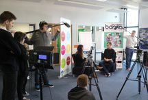 BDMA students interview Mia Xerri - Contrast Collective / BDMA students at BACA filming their first group interview - discovering what it is to be a film producer and the process of film production management.