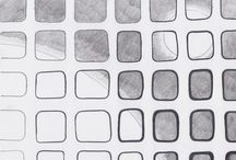 Grids / In this board: works made by mixed technics: pencil and pen.