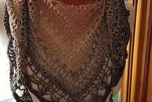 Crochet Shawl, Scarf, Scarves, Poncho