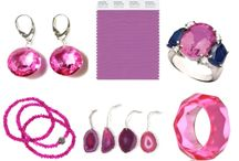 Spring jewelry trends / Radiant Orchid