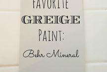 Greige paint colours