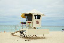AlaMoana BeachPark / のんびりするのにはうってつけ。 アラモアナ・ショッピングセンターの近くにある、ローカルな空気漂うビーチです。