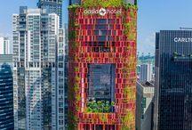Modern towers & galleries