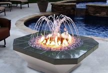 Fire garden table