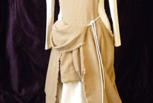 Medieval: Dresses and ideas. / Underdress, overdress and surcote: linnen, wool and slik.