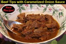Beef Tips with Caramelized Onion