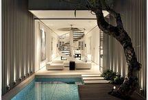 casas c piscinas interior